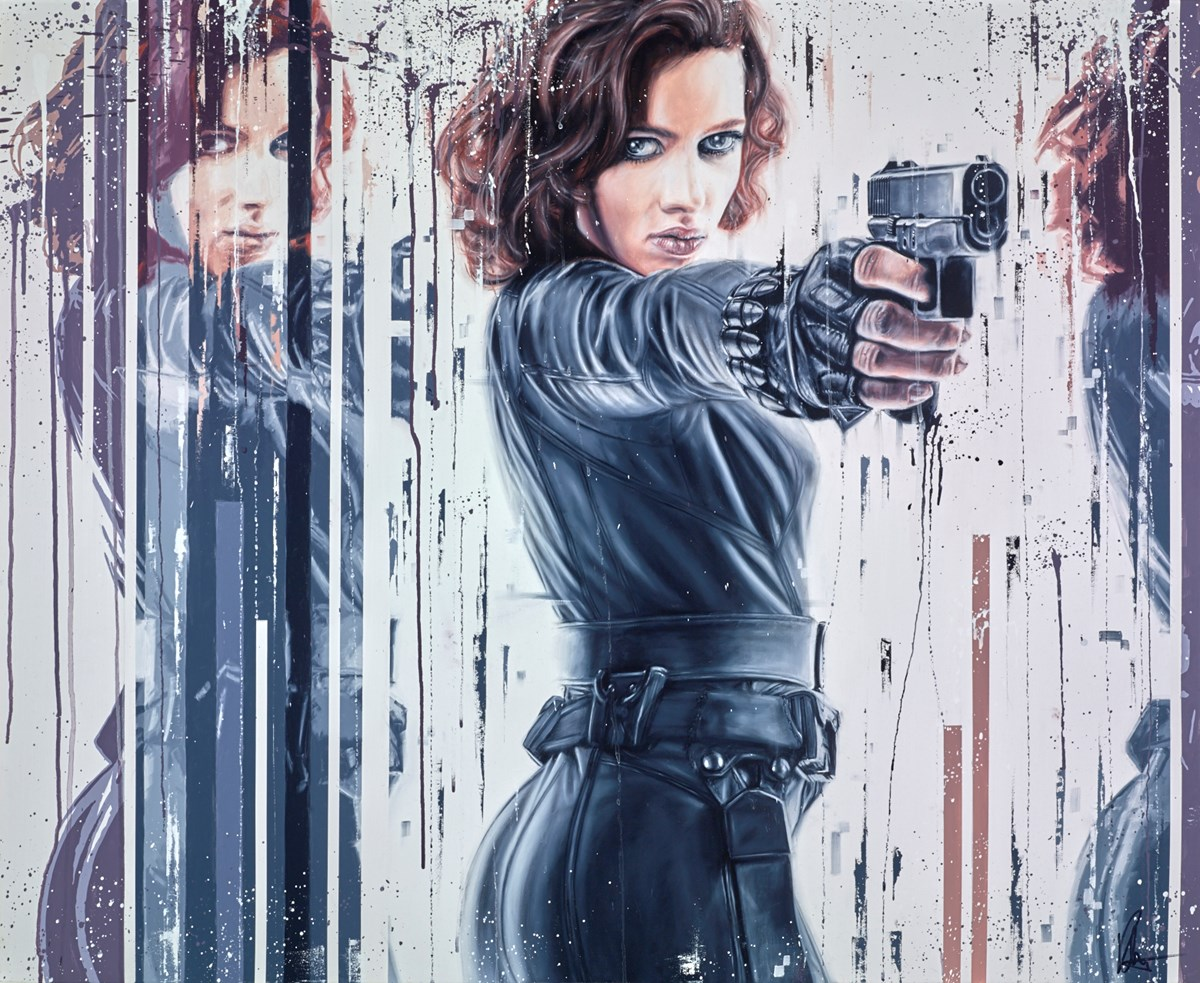 Black Widow/Natasha Romanoff by kris hardy -  sized 44x36 inches. Available from Whitewall Galleries